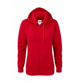 Ladies' Authentic Zipped Hood Classic Red