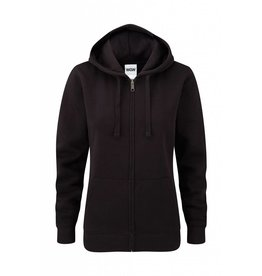 Ladies' Authentic Zipped Hood Black