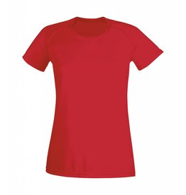 Lady Fit Performance T Red