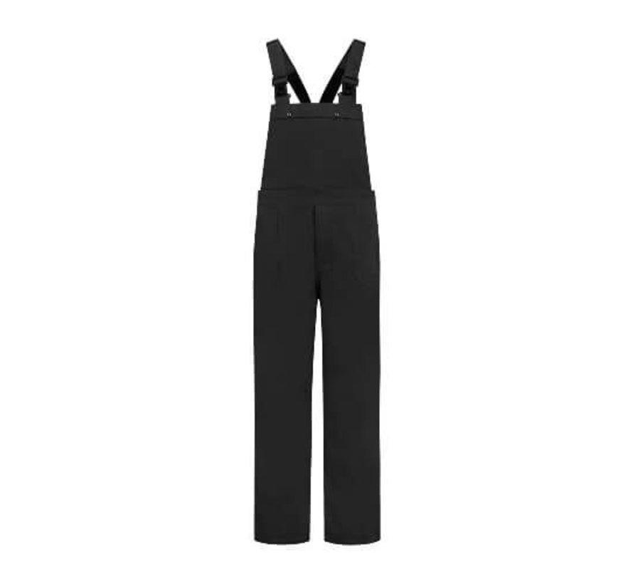 Tuinbroek Zwart polyester/katoen voor kinderen en volwassenen