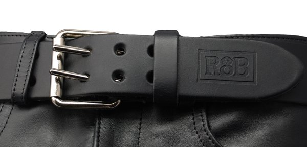 RoB RoB Leather Belt Double Buckle 5 cm wide