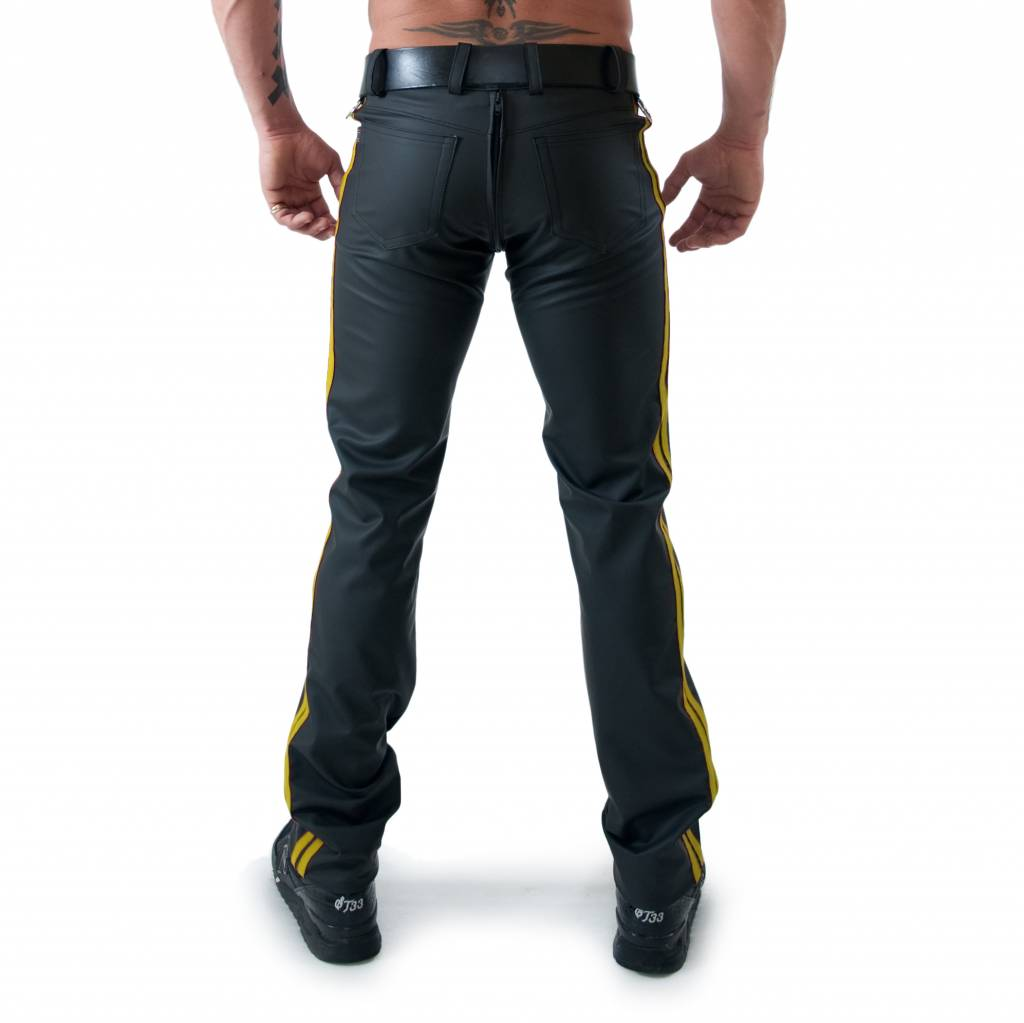 RoB F-Wear Full Zip Jeans, Double Yellow Stripes
