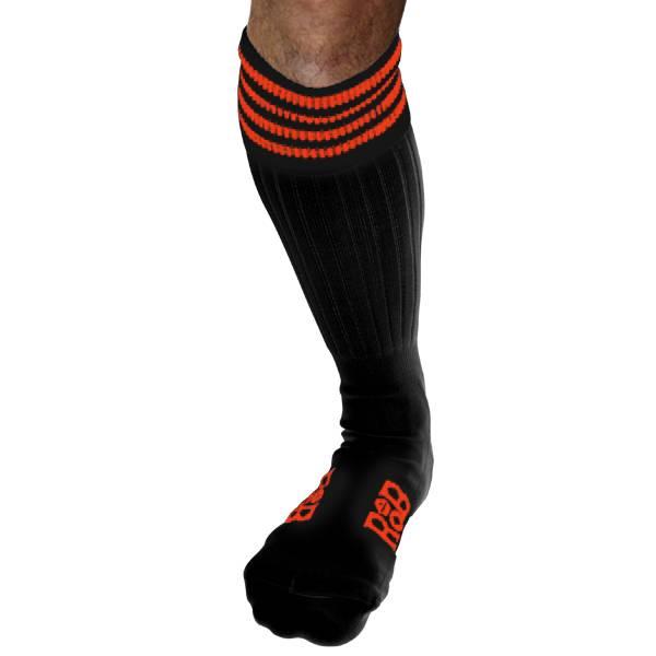 RoB RoB Boot Socks Black with Orange Stripes