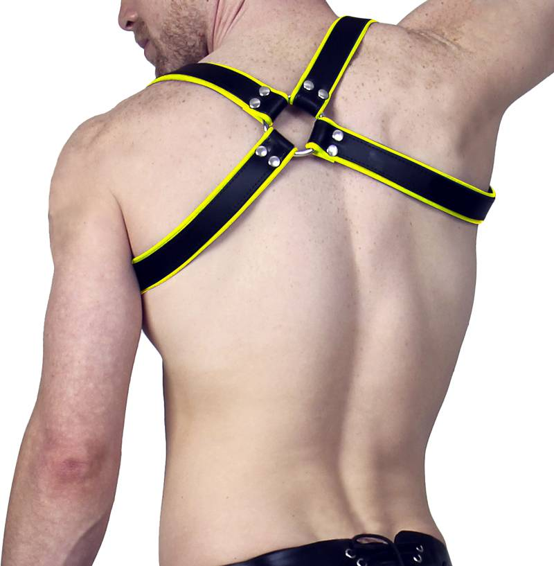RoB Shoulder Harness black with yellow Piping