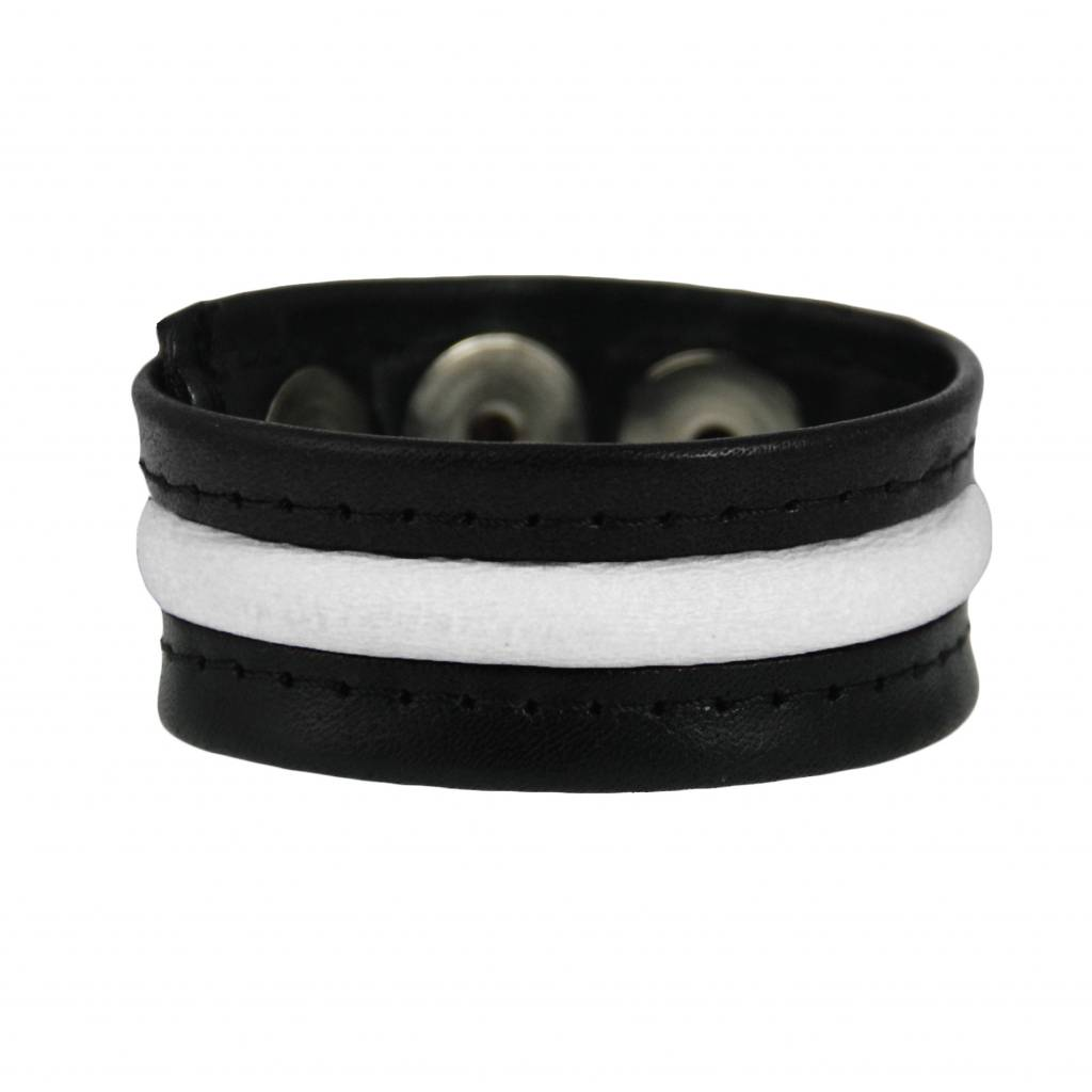 RoB 3-Snap-Cockstrap Black/White