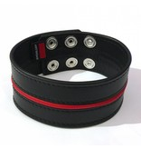 RoB Leather Biceps Band 5 cm Red Piping