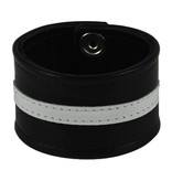 RoB Leather Wrist Band with Stripe