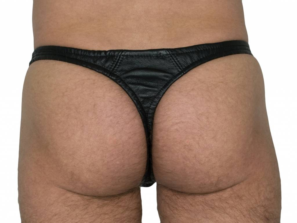 RoB Leather Thong Slip Front Zip