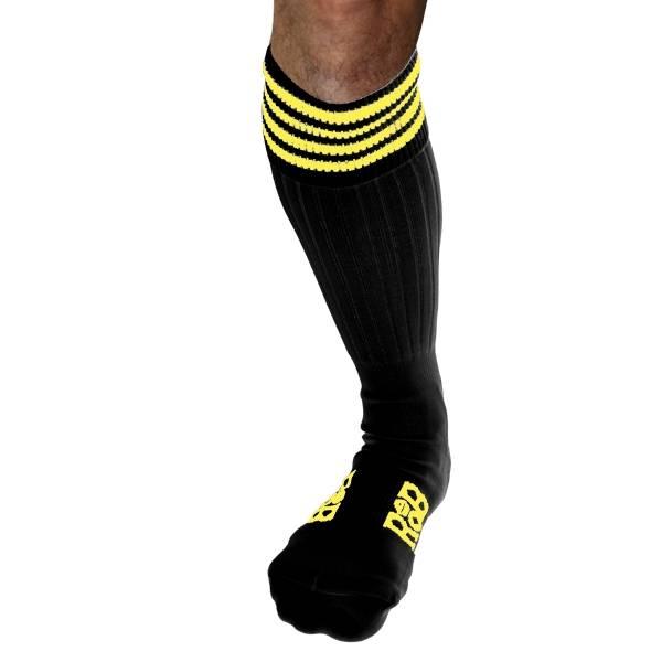 RoB RoB Boot Socks Black with Yellow Stripes