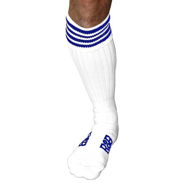 RoB RoB Boot Socks White with Blue Stripes