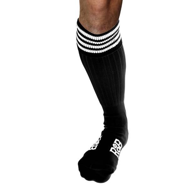 RoB RoB Boot Socks black with White Stripes
