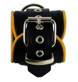 RoB Leather Wrist Restaints Yellow Piping