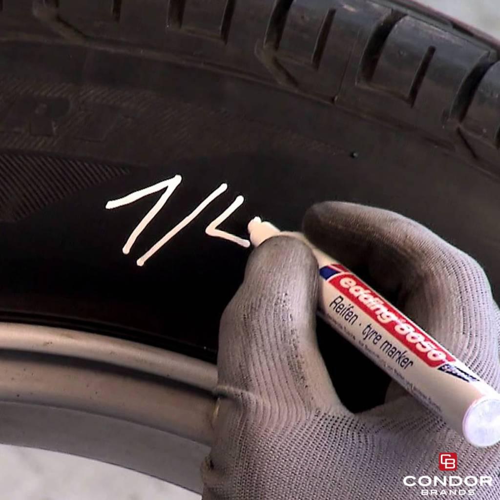 Edding Edding 8050 Marqueur spécial caoutchouc – un outil permanent pour les changements de pneus