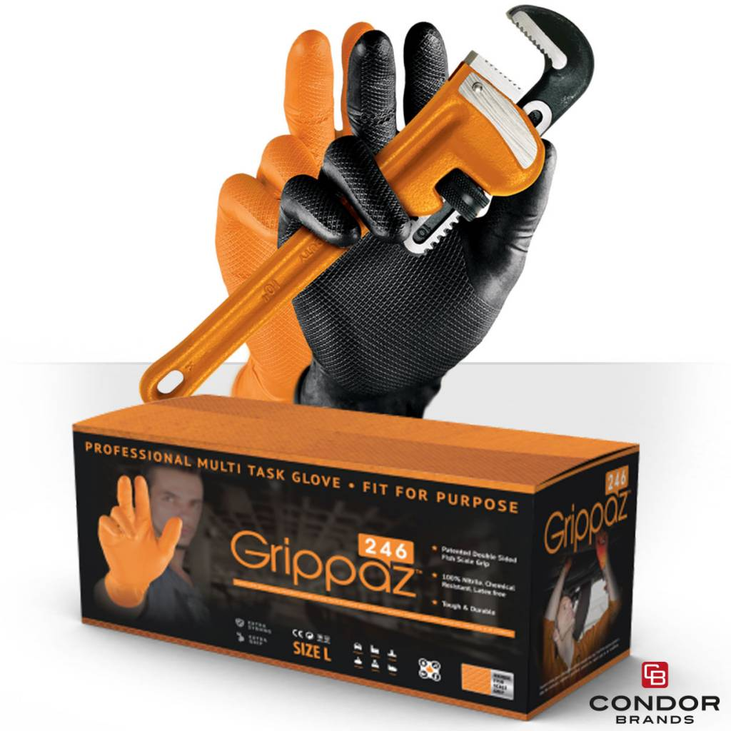 M-Safe Grippaz Nitril skins gloves 246 OR