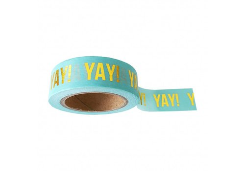 Studio Stationery Washi tape mint Yay, per 9 rolls