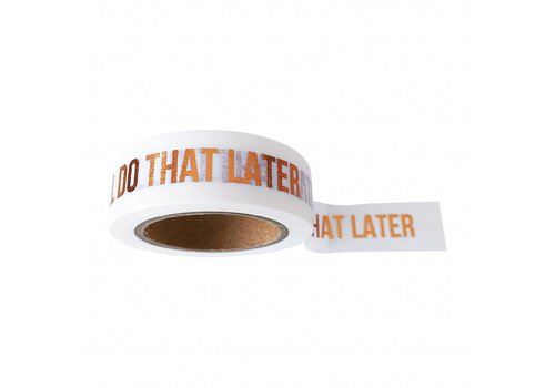 Studio Stationery Washi tape white I'll do that later, per 9 rolls