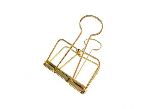 Studio Stationery Binder clips Gold XL, per 4 boxes