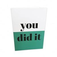Greeting card You did it, per 5 stuks
