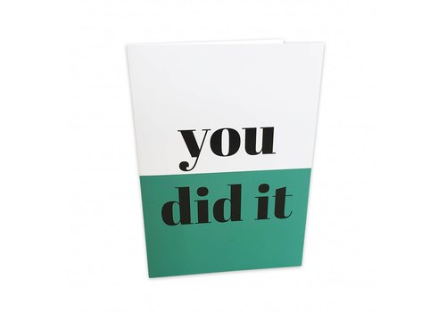 Studio Stationery Greeting card You did it, per 5 pieces
