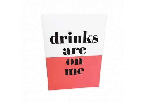 Studio Stationery Greeting card Drinks are on me, per 5 pieces