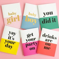 Greeting card Get your party on, per 5 pieces