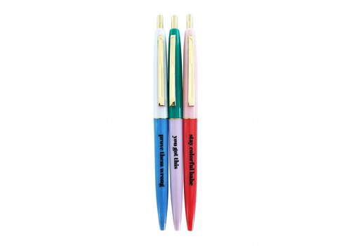 Studio Stationery Stay colorful ballpen set, per 10 sets