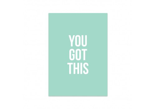 Studio Stationery Card You got this, per 5 pieces