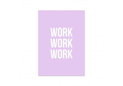 Studio Stationery Card Work work work, per 5 pieces