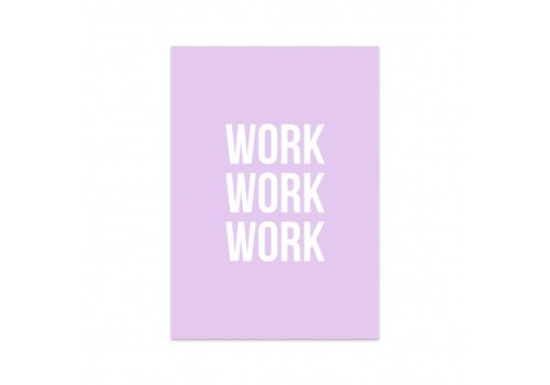 Studio Stationery Kaart Work work work, per 5 stuks
