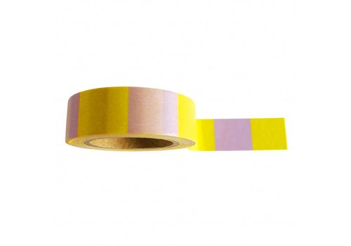 Studio Stationery Washi tape Yellow lilac, per 9 stuks