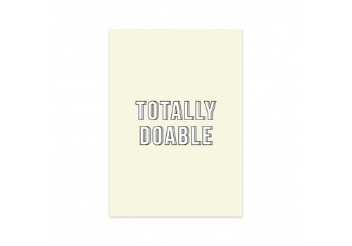 Studio Stationery Card Totally doable, per 5 pieces