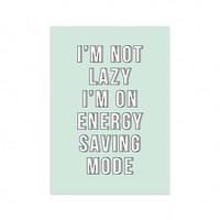 Kaart Energy saving mode, per 5 stuks