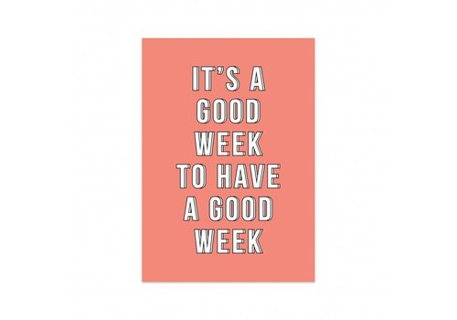 Studio Stationery Card Have a good week, per 5 pieces