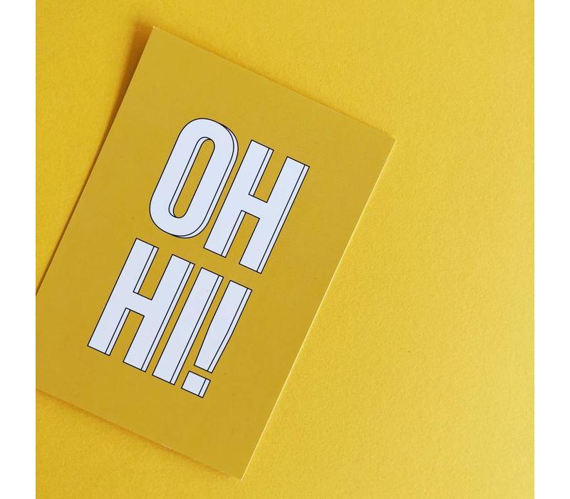 Card Oh hi!, per 5 pieces