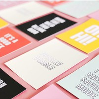 Card Go be awesome, per 5 pieces