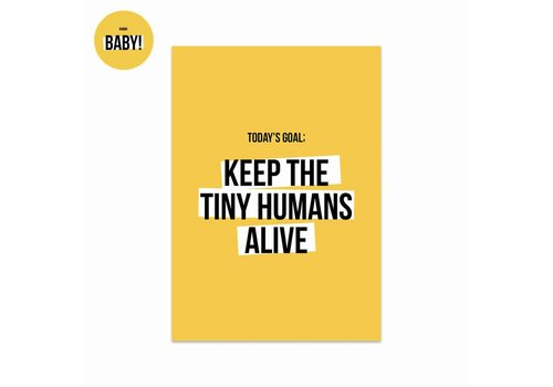 Studio Stationery Kaart Tiny humans, per 5 stuks
