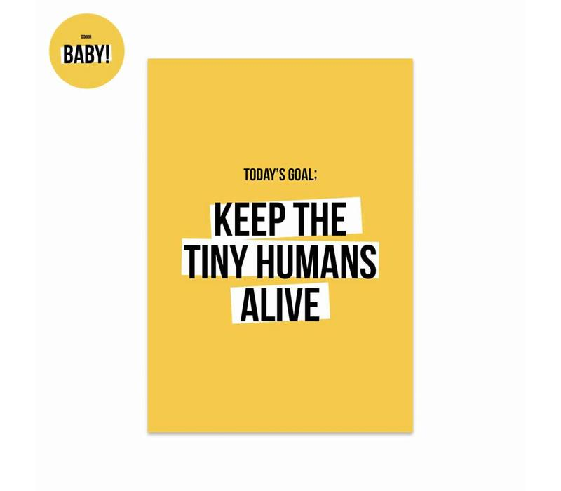 Kaart Tiny humans, per 5 stuks