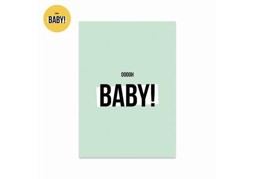 Studio Stationery Kaart Ooooh baby Boy, per 5 stuks