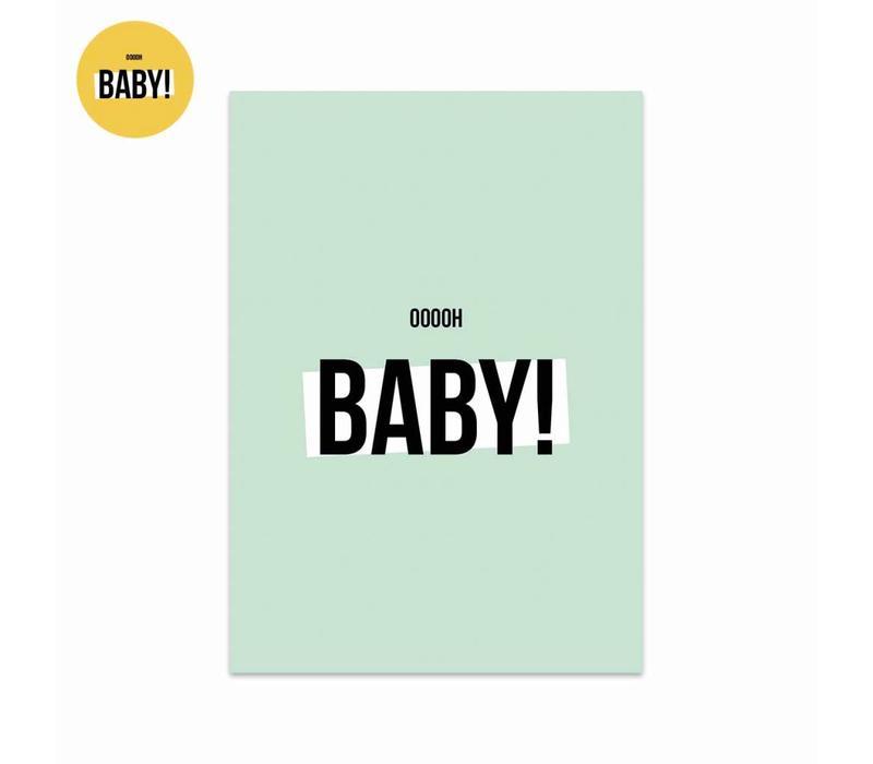 Card Ooooh baby Boy, per 5 pieces