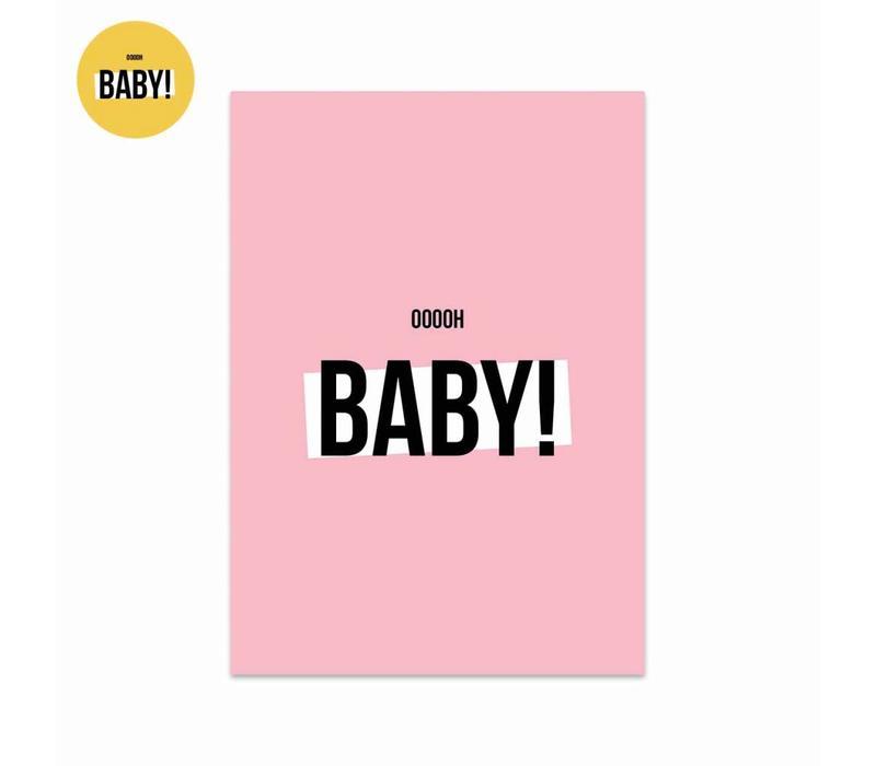 Card Ooooh baby Girl, per 5 pieces