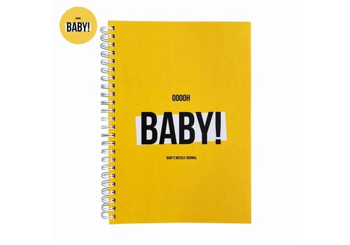 Studio Stationery Ooooh baby Weekly journal, per 3 pieces