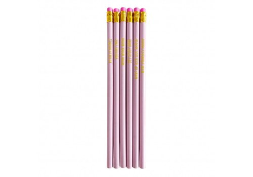 Studio Stationery Pretty pink Pencil set, per 10 stuks
