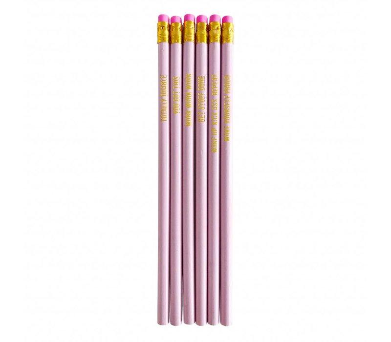 Pretty pink Pencil set, per 10 pieces