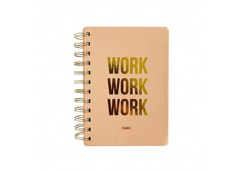 Studio Stationery Planner Work work work Blush, per 3 stuks