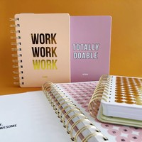 Planner Work work work Blush, per 3 pieces