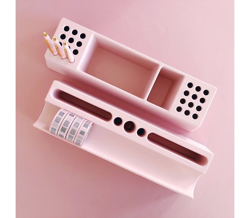 Desk organizer washi pink, per 2 pieces