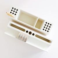 Desk organizer Pens white, per 2 stuks