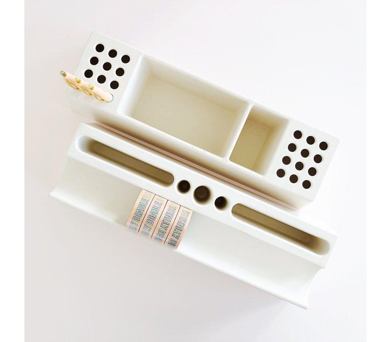 Desk organizer Pens white, per 2 pieces