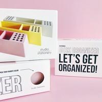 Desk organizer Pens pink, per 2 pieces