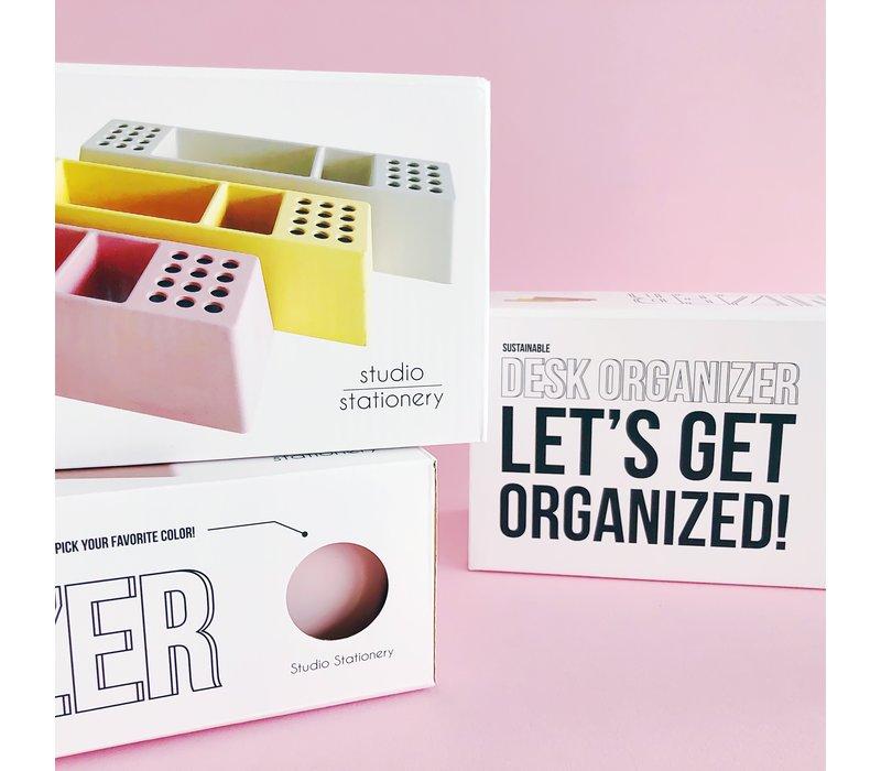 Desk organizer Pens pink, per 2 stuks